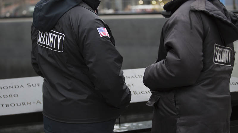 While more subtle than it once was, security is still ever present at Ground Zero.