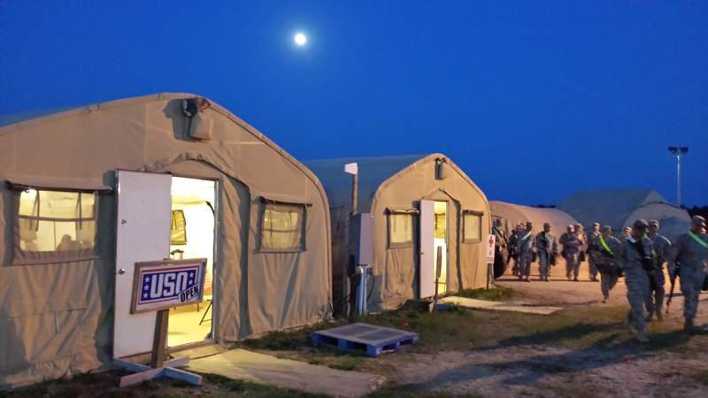 After a long day of arduous training at Fort McCoy, service members can unwind at the USO center located on a remote part of the installation.