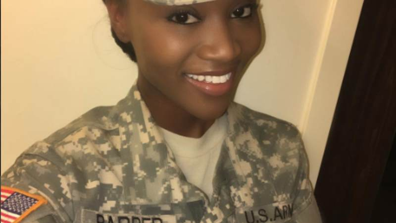 Miss USA takes a selfie for Instagram in her U.S. Army battle dress uniform.