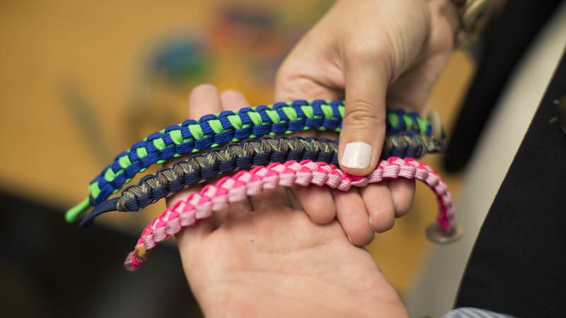 550 cord bracelets.