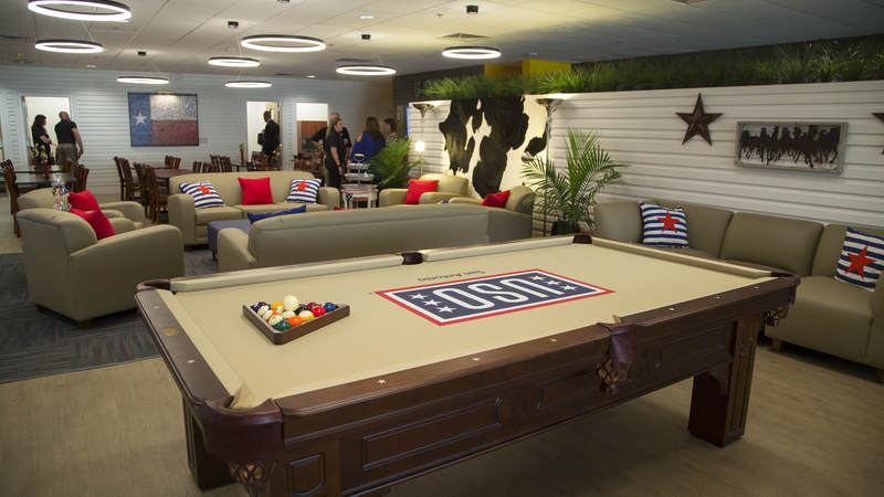 A look inside the new USO center at Joint Base San Antonio.