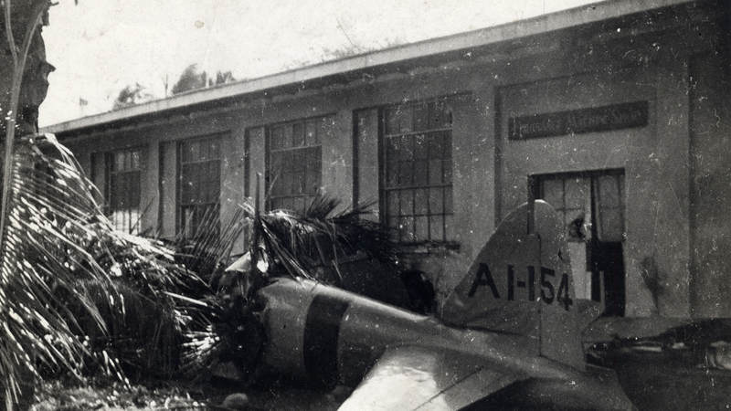 The first Japanese plane shot down during the attack on Pearl Harbor on Dec. 7, 1941.