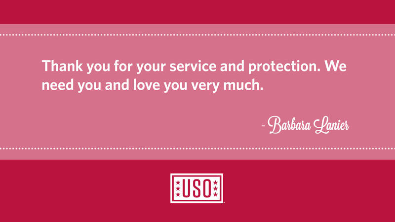 A message from the USO's Campaign to Connect.