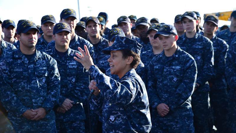 Adm. Michelle Howard made history in 2014 when she became the first four-star woman in Navy history. Howard serves as commander of U.S. Naval Forces Europe.