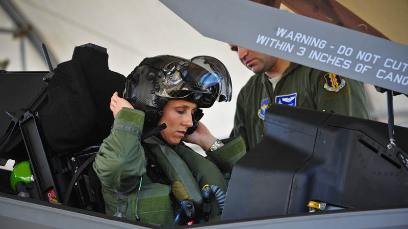 Air Force Lt. Col. Christine Mau became the first U.S. female pilot to fly the F-35 Lightning II, when took to the skies from Florida's Elgin Air Force Base in 2015.