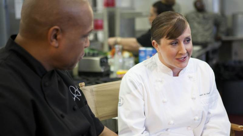 Army Sgt. Sarah Deckert was named 2014 Armed Forces Chef of the Year and is the first woman to win the award.