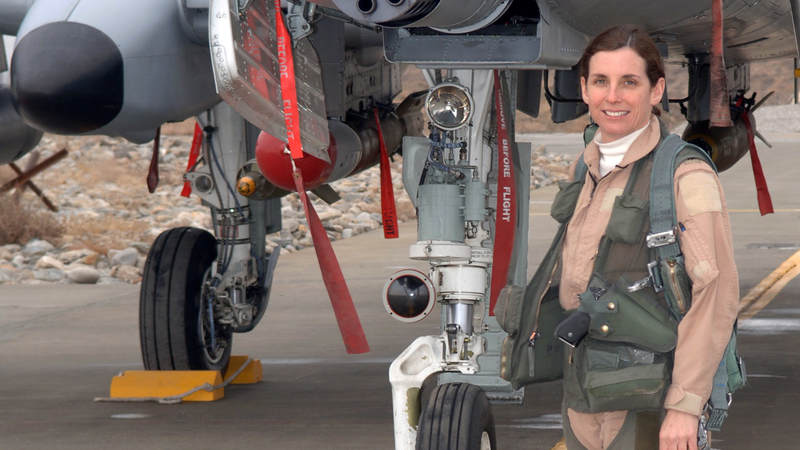 In addition to being the first female fighter pilot to fly in combat, Rep. Martha McSally, R-Ariz., an A-10 Thunderbolt II pilot, is also the first female to command a fighter squadron in combat. McSally, a retired colonel, was first elected to Congress in 2014.