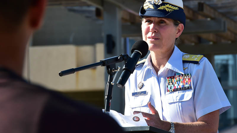 When she was named superintendentof theCoast Guard Academy in 2011, Vice Adm. Sandra Stoszbecame the first woman to lead a U.S. military service academy.