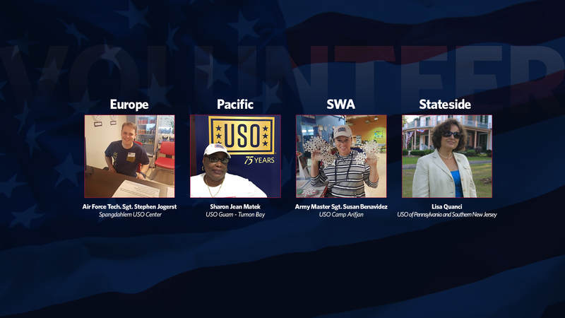 USO Volunteers of the Quarter for Winter 2017