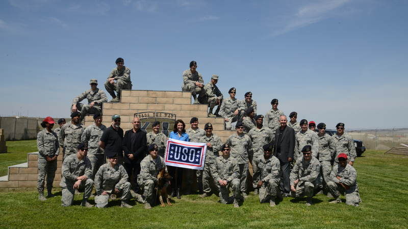 "Titus Welliver, Amy Aquino and Henrik Bastin kicked off Season 3 of ""Bosch"" with a USO screening at Edwards Air Force Base in California on April 10."