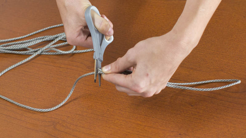 2. Cut a piece of cord that is double the length that you measured.