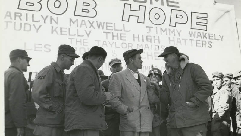 Bob Hope in Korea in 1950.