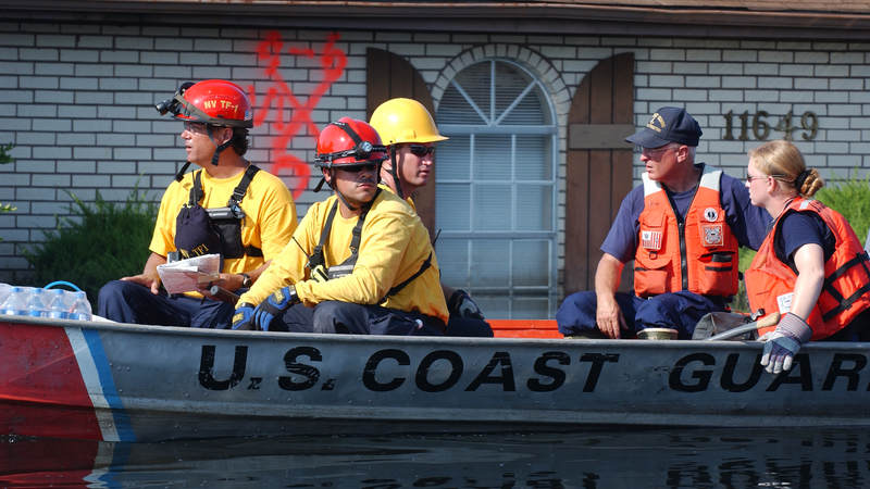 Urban Search and Rescue task forces continue search operations into New Orleans neighborhoods impacted by Hurricane Katrina in Sept. 2005.