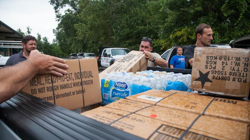 Supplies are prepared in anticipation of Hurricane Irma.
