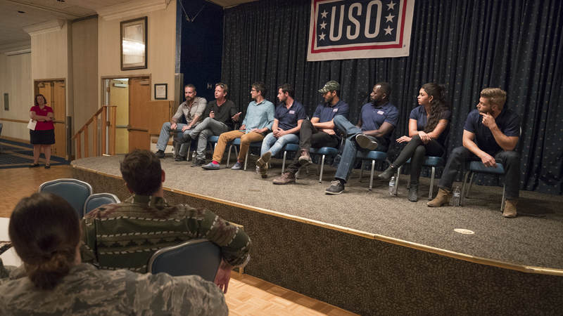 "The cast welcomed airmen and their families to an advance screening of NBC's ""The Brave"" and opened the floor to a USO Q&A, where each star expressed their heartfelt appreciation to America's armed forces and took time out to personally greet service members and military families."