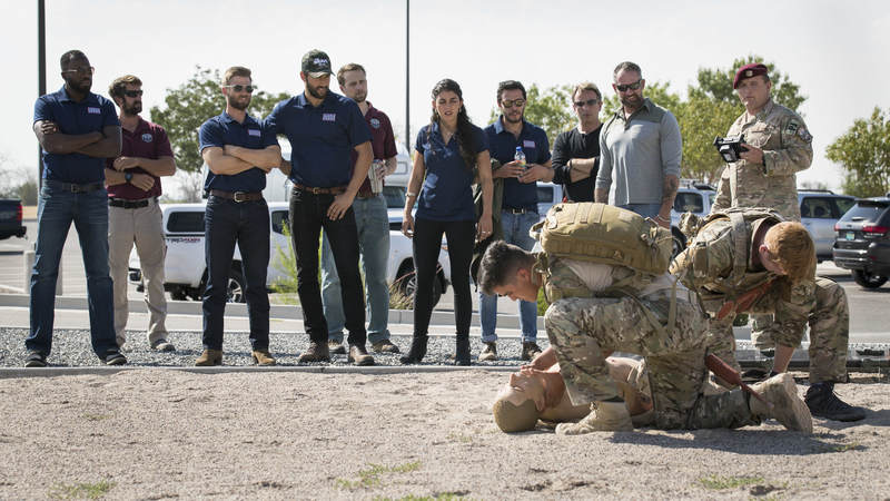 "The cast members from NBC's ""The Brave"" spent the day on Kirtland Air Force Base, New Mexico, learning about military operations, extending their heartfelt gratitude and treating airmen to an advance USO screening of their new drama, which premieres Sept. 25."