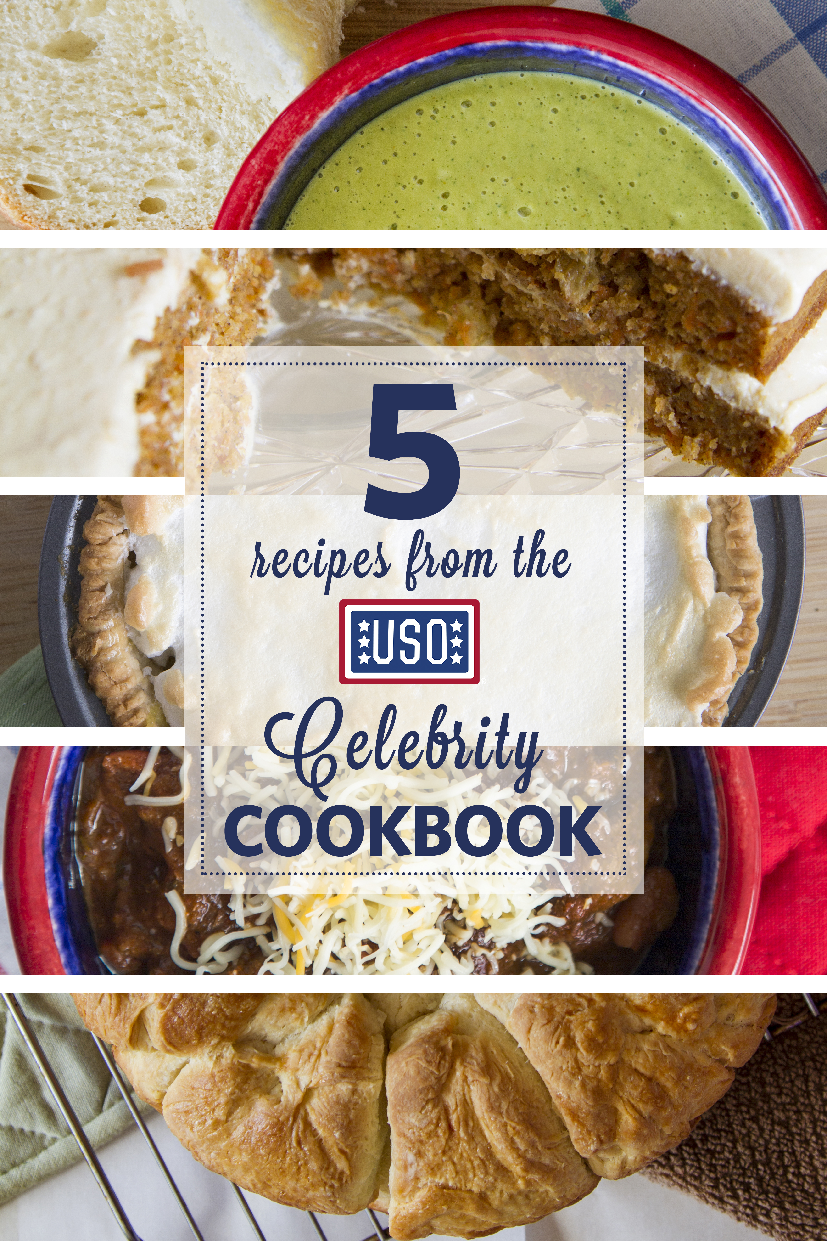 "Try all five recipes from the USO of Pioneer Valley's ""Celebrity Cookbook."""