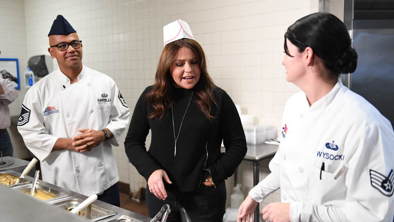 TV star and author Rachael Ray recently embarked on her first USO tour when she visited service members at Joint Base McGuire-Dix-Lakehurst in New Jersey in November.
