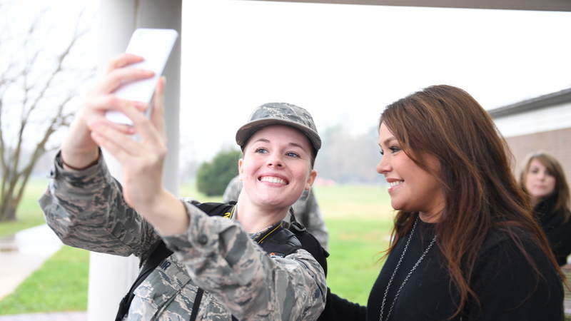 TV star and author Rachael Ray recently embarked on her first USO tour when she visited service members at Joint Base McGuire-Dix-Lakehurst in New Jersey.