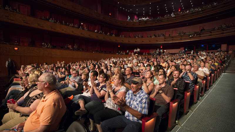 Over 1,700 service members attended Adkins' show at The Tobin Center.