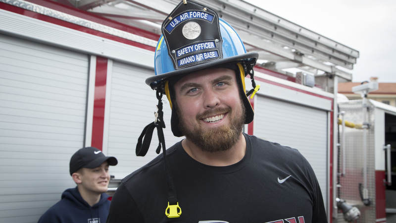 Atlanta Falcons offensive lineman Ben Garland turned 30 during the 2018 USO-NFL tour to Germany and Italy.