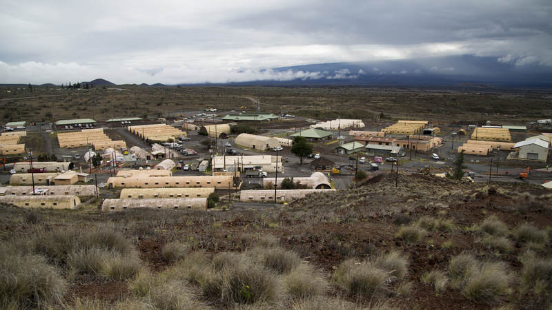 Pohakuloa Training Center, on the Big Island of Hawaii, is located at the base of Maunakea, the only one of three volcanos on the Big Island of Hawaii considered dormant.