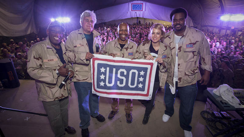 Iliza Schlesinger joined Al Roker, Jay Leno and Craig Robinson for the TODAY USO Comedy Tour in 2014.
