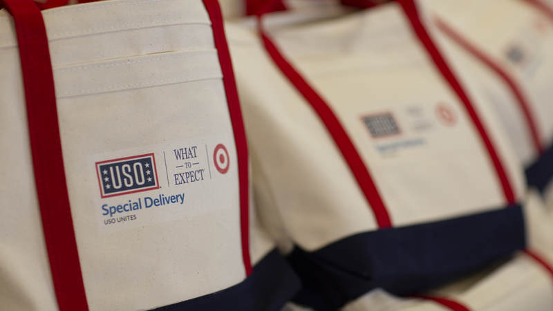 """Since 2013, the USO and Heidi Murkoff, author of the """"What to Expect"""" book series and creator of whattoexpect.com and the WTE Foundation, have partnered in  hosting Special Delivery baby showers for new military parents and parents-to-be around the globe."""