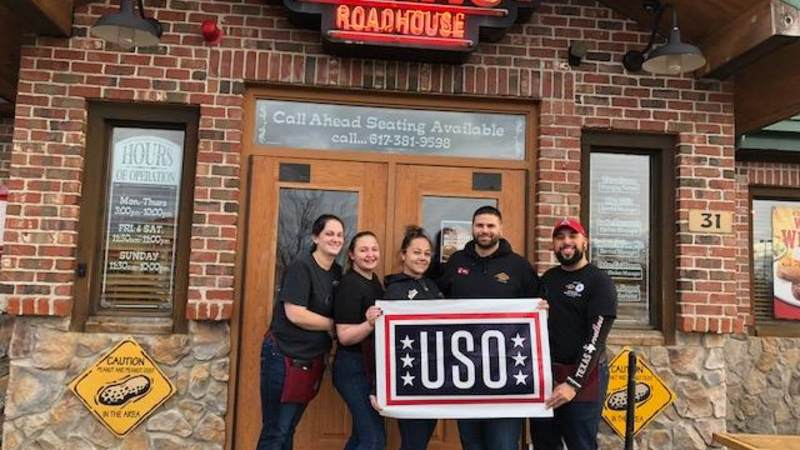 USO New England has partnered with local restaurants and businesses to provide free meals to active duty Coast Guard members and their families during the government shutdown.