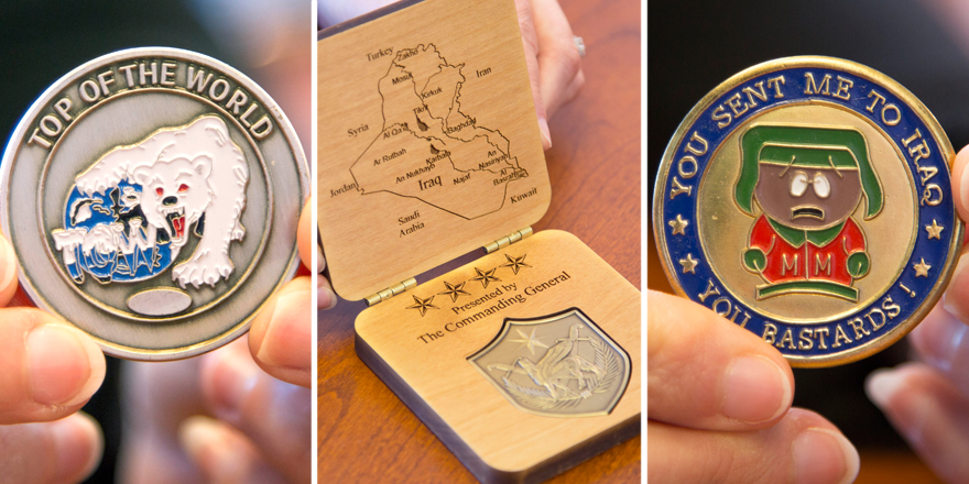 USO military challenge coins