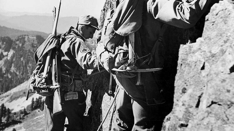 Members of the Army's first mountain division were hand-picked for their cold-weather and mountaineering skills.
