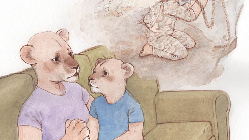 """Why Is Dad So Mad?"" illustrations by Karissa Gonzalez-Othon. Courtesy of Kastle Books"