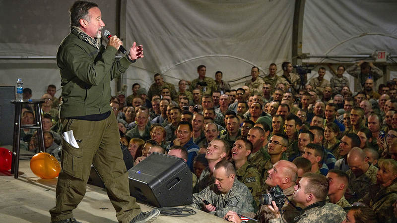 Robin Williams left a legacy of entertaining the troops.
