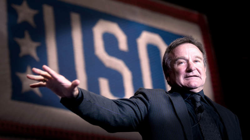 Robin Williams at the 2008 USO Gala.