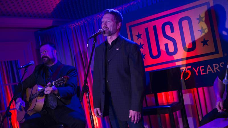 Craig Morgan performs at the USO's 75th Anniversary Reception.