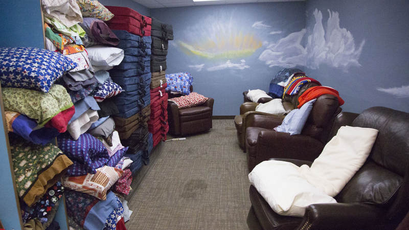 USO Ontario is equipped with several lounges and plenty of bedding in case troops have to make a longer-than-anticipated stay.