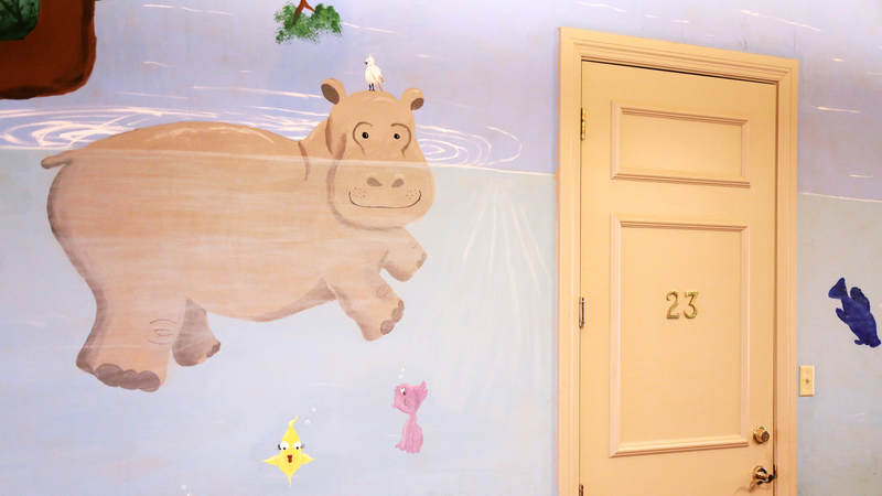Each of the three Fisher Houses at Lackland Air Force Base are decorated with hand-painted murals of animals.